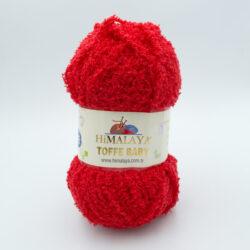 Пряжа плюшевая Himalaya Toffee Baby 78110 красный