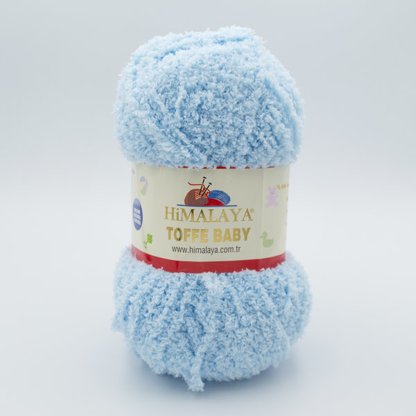 Пряжа плюшевая Himalaya Toffee Baby 78112 нежно голубой