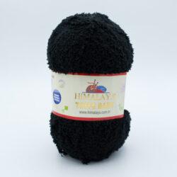 Пряжа плюшевая Himalaya Toffee Baby 78121 черный