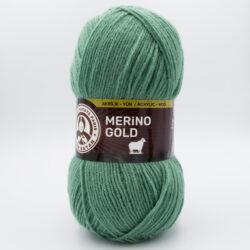Пряжа Madame Tricote Merino Gold 132 мятно-зеленый