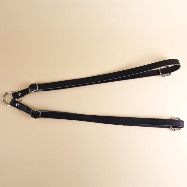 Ремни для рюкзака экокожа 47-85 см черный