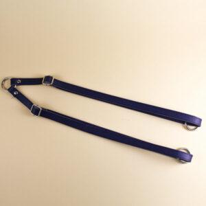 Ремни для рюкзака экокожа 47-85 см синий