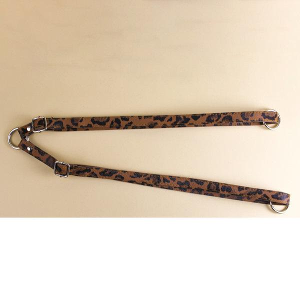 Ремни для рюкзака экокожа 47-85 см тигровый