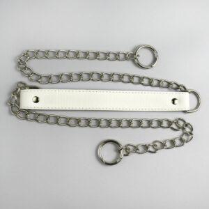 Ручка для сумки экокожа и цепь белая 112 см