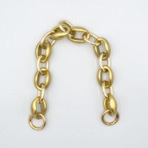 Ручка-цепь пластик и металл 40 см золото