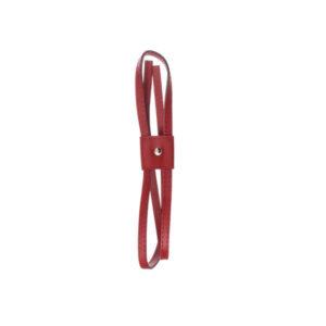 Затяжка для рюкзака экокожа красная