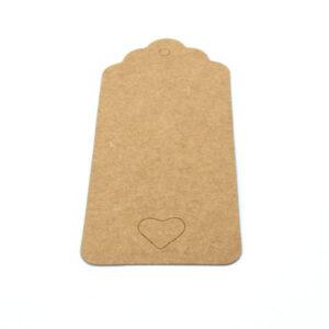 Бирка с крафт картона сердце