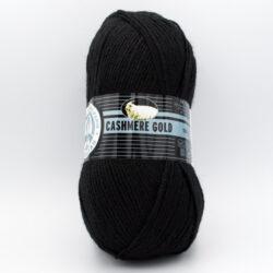 Пряжа Madame Tricote Cashmere Gold 999 черный