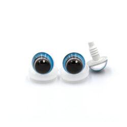 Глазки круглые с ресничками голубые