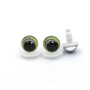 Глазки круглые с ресничками салатовые