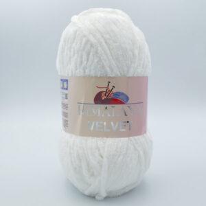 Пряжа плюшевая Himalaya Velvet 90001 белый
