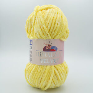 Пряжа плюшевая Himalaya Velvet 90002 светло-желтый
