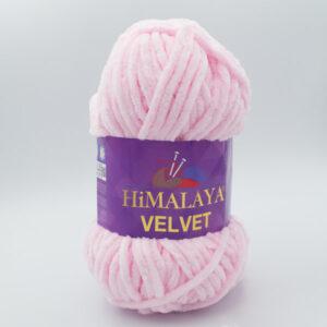 Пряжа плюшевая Himalaya Velvet 90003 нежно-розовый зефир