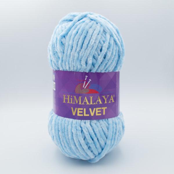 Пряжа плюшевая Himalaya Velvet 90006 светло-голубой