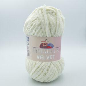 Пряжа плюшевая Himalaya Velvet 90008 молочный