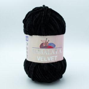 Пряжа плюшевая Himalaya Velvet 90011 черный
