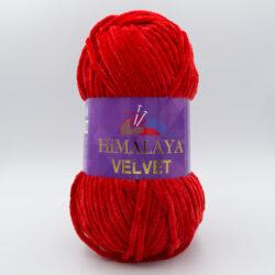 Пряжа плюшевая Himalaya Velvet 90018 красный