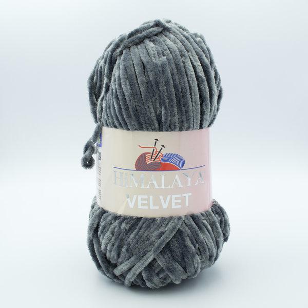 Пряжа плюшевая Himalaya Velvet 90020 серый