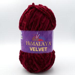 Пряжа плюшевая Himalaya Velvet 90022 бордо
