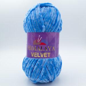 Пряжа плюшевая Himalaya Velvet 90027 голубой