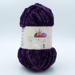 Пряжа плюшевая Himalaya Velvet 90028 фиолетовый