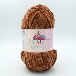 Пряжа плюшевая Himalaya Velvet 90037 коричневый