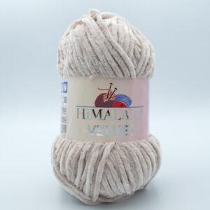 Пряжа плюшевая Himalaya Velvet 90042 светлый бежевый