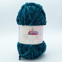Пряжа плюшевая Himalaya Velvet 90048 петроль