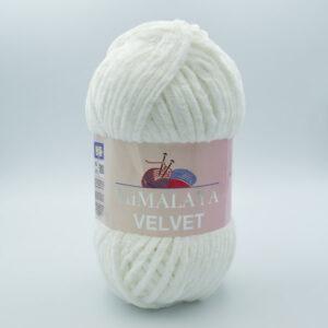 Пряжа плюшевая Himalaya Velvet 90063 молочно-белый