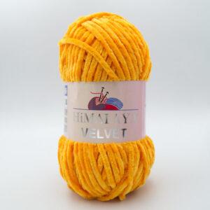 Пряжа плюшевая Himalaya Velvet 90068 желто-оранжевый