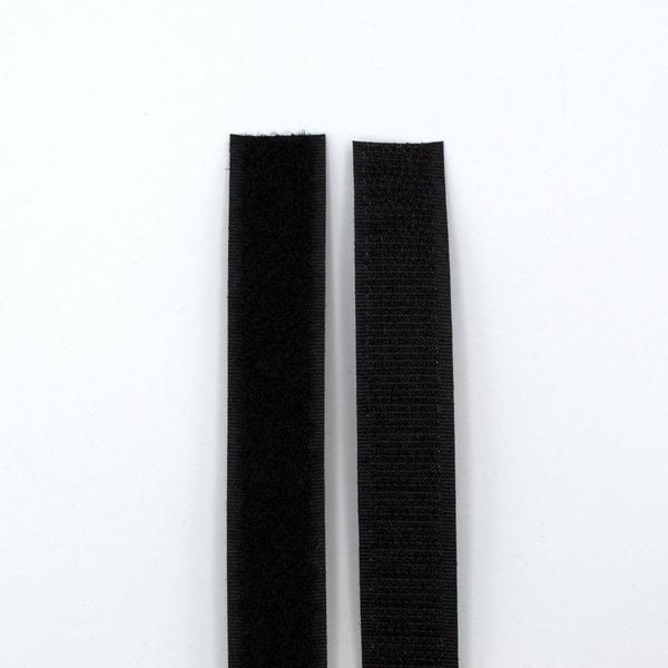 Липучка для одежды пришивная 20 мм черная