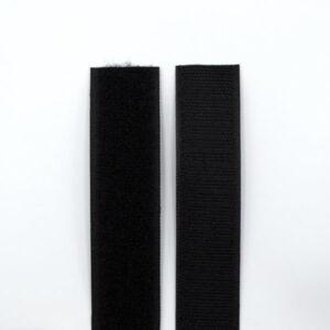 Липучка для одежды пришивная 30 мм черная