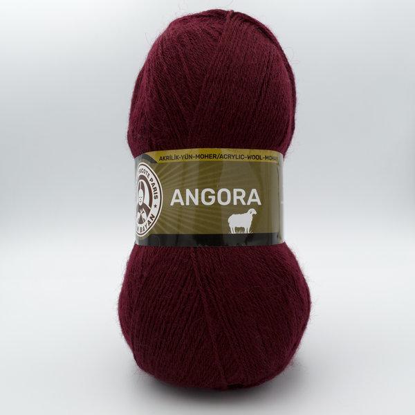 Пряжа Madame Tricote Angora-Полушерсть 035 бордо