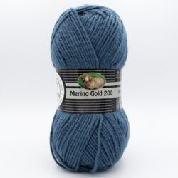 Пряжа Madame Tricote Merino Gold 200 018 серо-голубой джинс