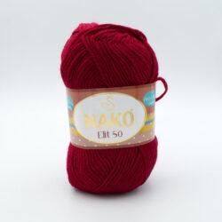 Пряжа Nako Elit 50 298 красно-бордовый