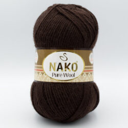 Пряжа Nako Pure Wool 282 шоколад