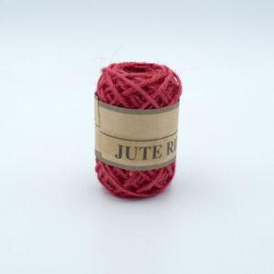 Шнур джутовый 3 мм красный