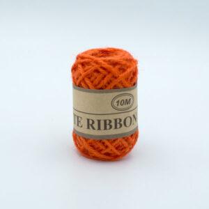Шнур джутовый 3 мм оранжевый