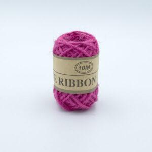 Шнур джутовый 3 мм розовый