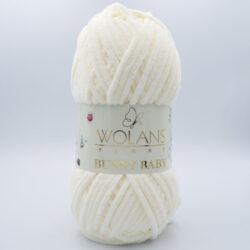 Пряжа плюшевая Wolans Bunny Baby 10002 молочный пломбир