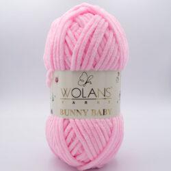 Пряжа плюшевая Wolans Bunny Baby 10005 светло-розовый