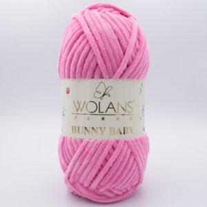 Пряжа плюшевая Wolans Bunny Baby 10006 розовый