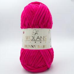 Пряжа плюшевая Wolans Bunny Baby 10007 ярко-малиновый