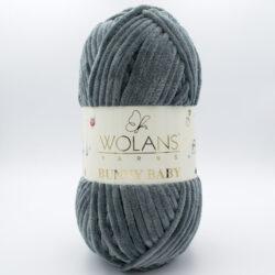 Пряжа плюшевая Wolans Bunny Baby 10009 темно-серый