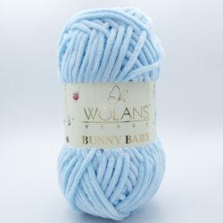Пряжа плюшевая Wolans Bunny Baby 10011 светло-голубой