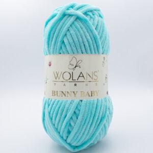 Пряжа плюшевая Wolans Bunny Baby 10013 бирюза