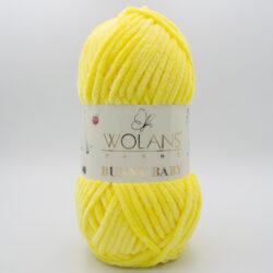 Пряжа плюшевая Wolans Bunny Baby 10014 желтый