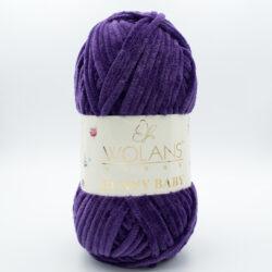 Пряжа плюшевая Wolans Bunny Baby 10016 фиолетовый