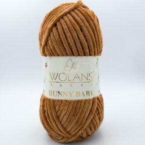 Пряжа плюшевая Wolans Bunny Baby 10019 коричневый