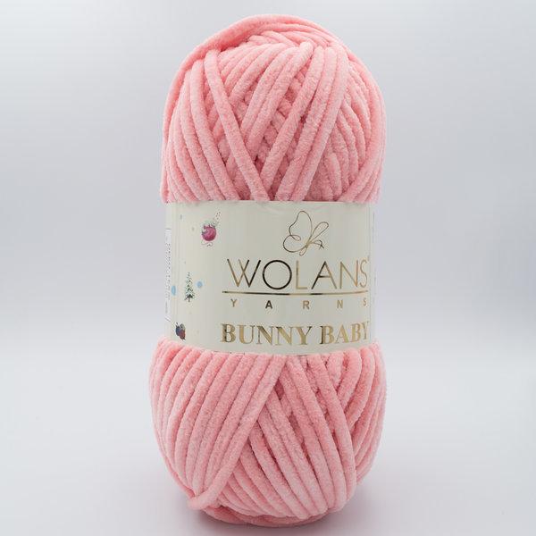 Пряжа плюшевая Wolans Bunny Baby 10021 светло-лососевый